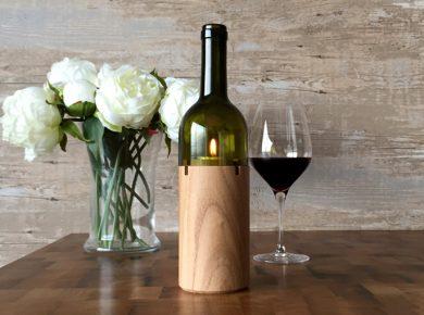 Weinlicht mit Blume